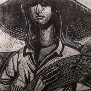 The_virgin_of_the_neighborhood_Relief_print-_woodcut_75x53cm